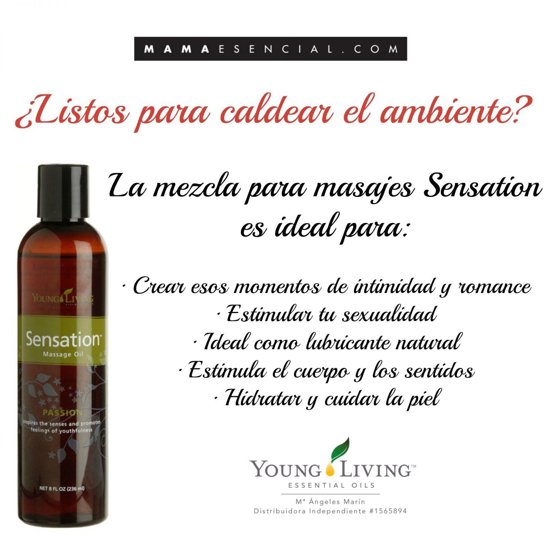 Mezcla de aceites para masajes sensation