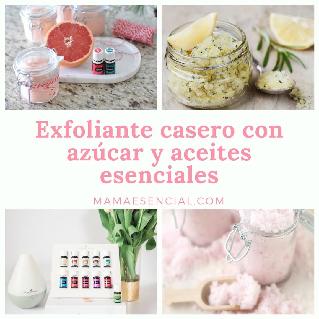 Exfoliante casero con azucar y aceites esenciales