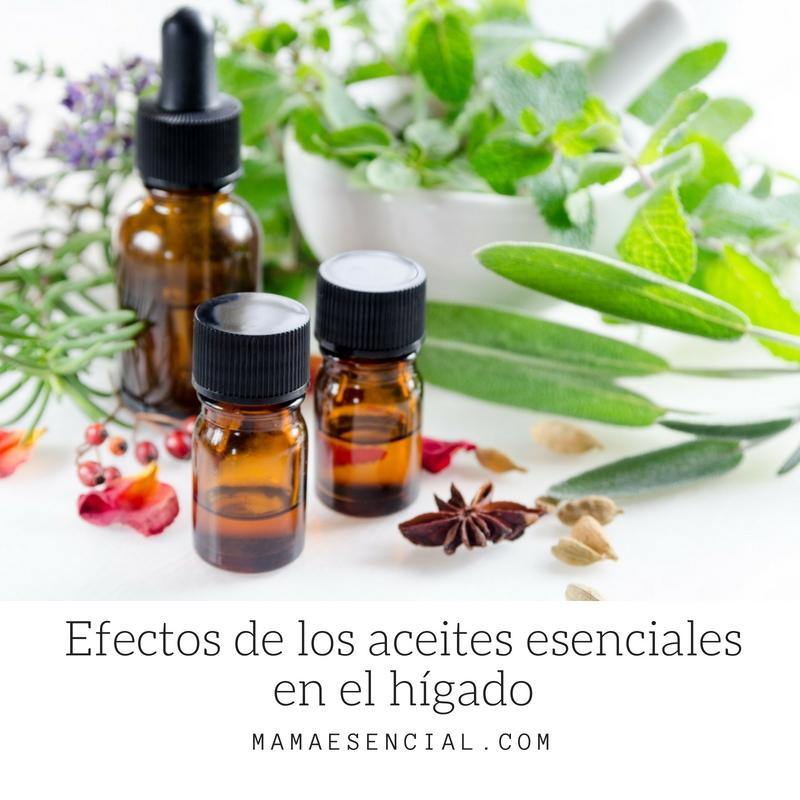 Efectos de los aceites esenciales en el hígado